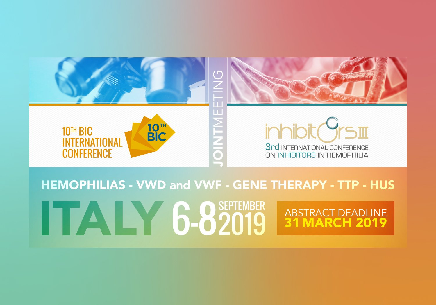 10TH BIC INTERNATIONAL CONFERENCE I 6-8th September, Milan, Italy